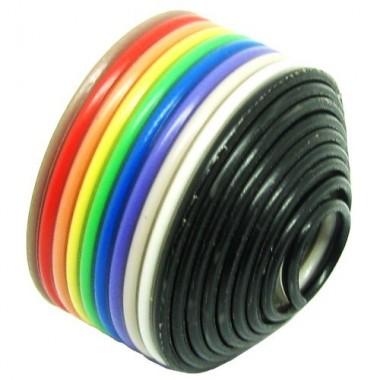 کابل فلت 10 رشته رنگی